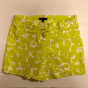 The Limited Neon Green and White Floral Shorts, 6